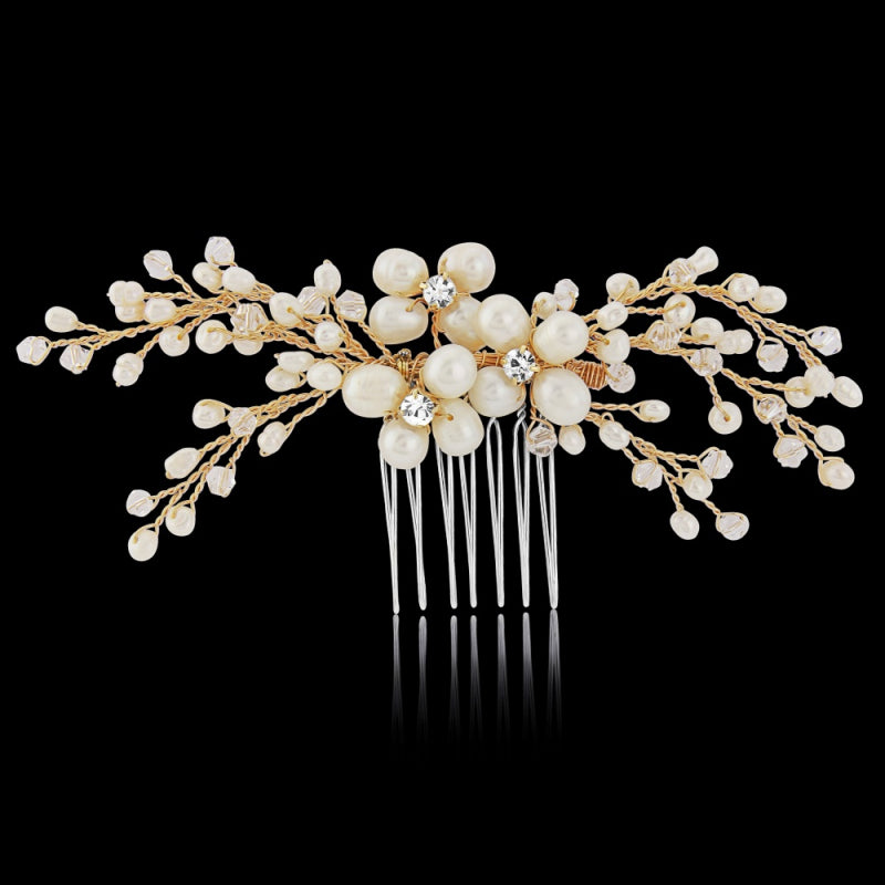 Isabel Freshwater Pearl Gold Wedding Hair Comb