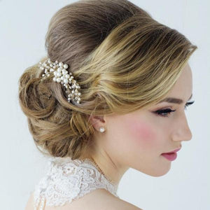 Isabel Freshwater Pearl Rose Gold Wedding Hair Comb