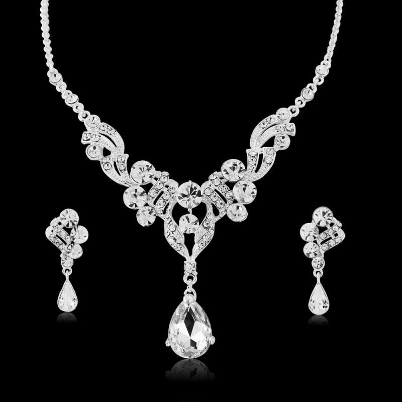 Luxe Crystal Necklace & Earring Set