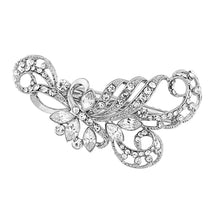 Load image into Gallery viewer, Lily Crystal Silver Wedding Hair Clip