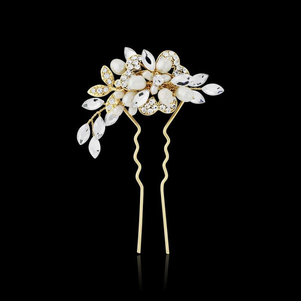 Marcia Luxe Gold Hair Pin Sass B Collection