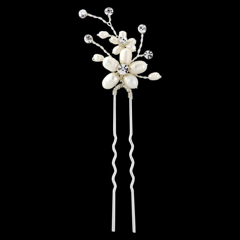 Neva Pearl Flower Hair Pin