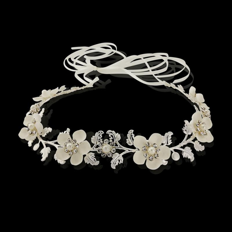 Opulence Floral Bridal Hairvine