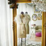 Ostrich Feather Bridal Shrug In Ivory