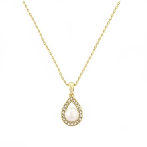 Precious Pearl Gold Wedding Necklace