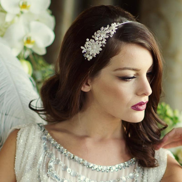 Scarlett Bridal Headband In Gold