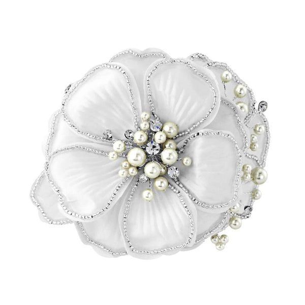 Serenity Chic Pearl Comb Bridal Headpiece