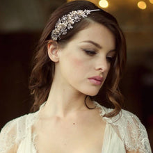 Load image into Gallery viewer, Sofia Luxe Pearl Bridal Headband