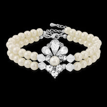 Load image into Gallery viewer, Starlet Pearl Silver Wedding Bracelet