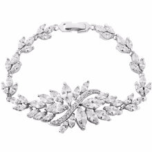 Load image into Gallery viewer, Crystal Statement Bridal Bracelet In Silver
