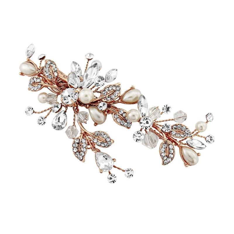 Martha Vintage Heirloom Rose Gold Wedding Headpiece