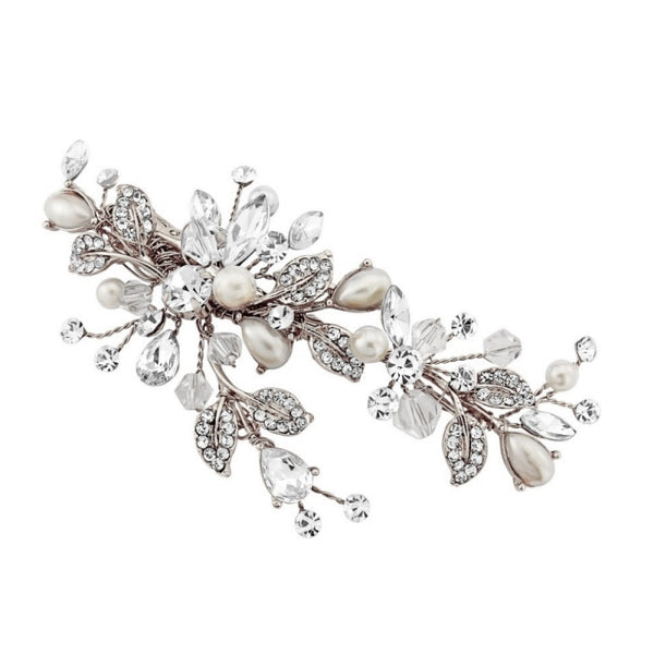 Martha Vintage Heirloom Silver Wedding Headpiece