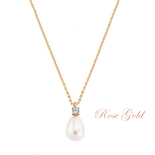 Vintage Heirloom Rose Gold Wedding Necklace