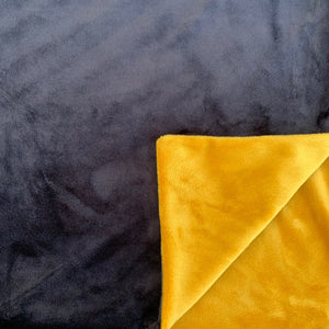 Adult Minky Blanket - Gold and Black Cuddle