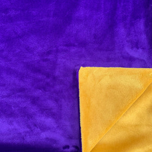 Adult Minky Blanket - Purple and Gold Cuddle