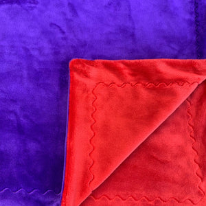 Adult Minky Blanket - Purple and Red Cuddle