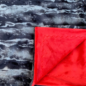 Adult Minky Blanket-Red and Shadow Luxe