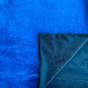 Adult Minky Blanket-Royal Blue and Black Cuddle
