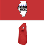Ladies Drink Local SS T Shirt Red