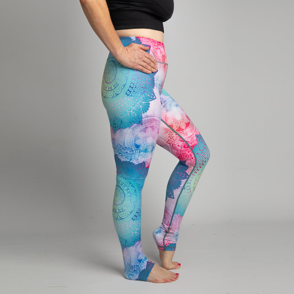 Mandala - Higher Waisted Yoga Leggings