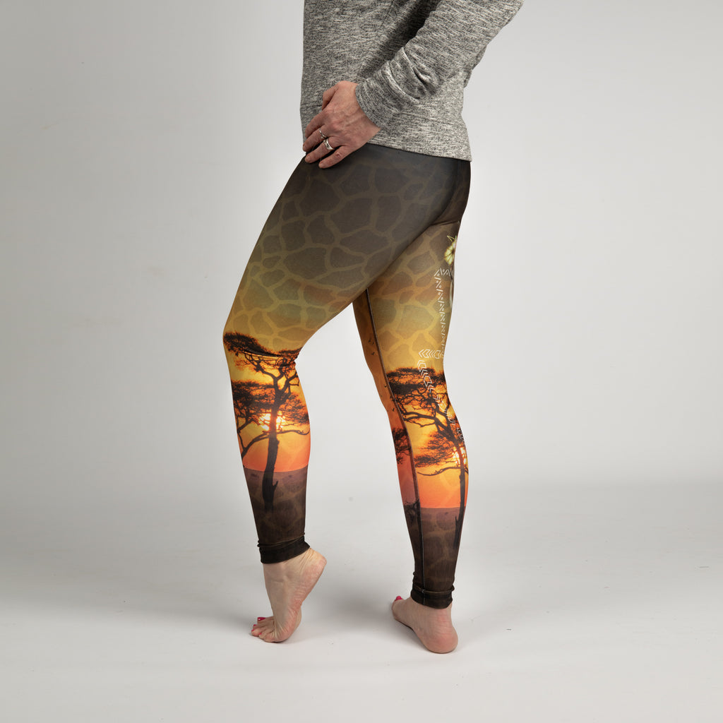 Savannah Print Eco Leggings