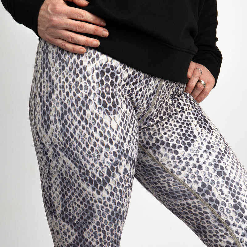 Snake Rattle and Roll - Higher Waisted Yoga Leggings