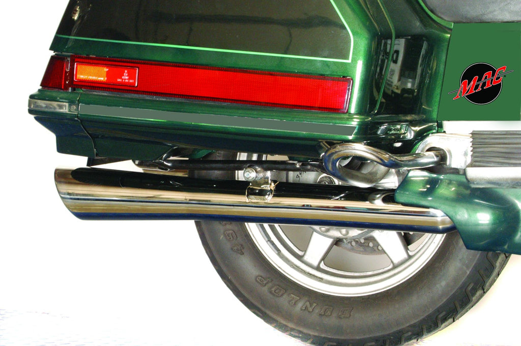 MAC Chrome Rolled Tip Slashback Touring Performance Mufflers