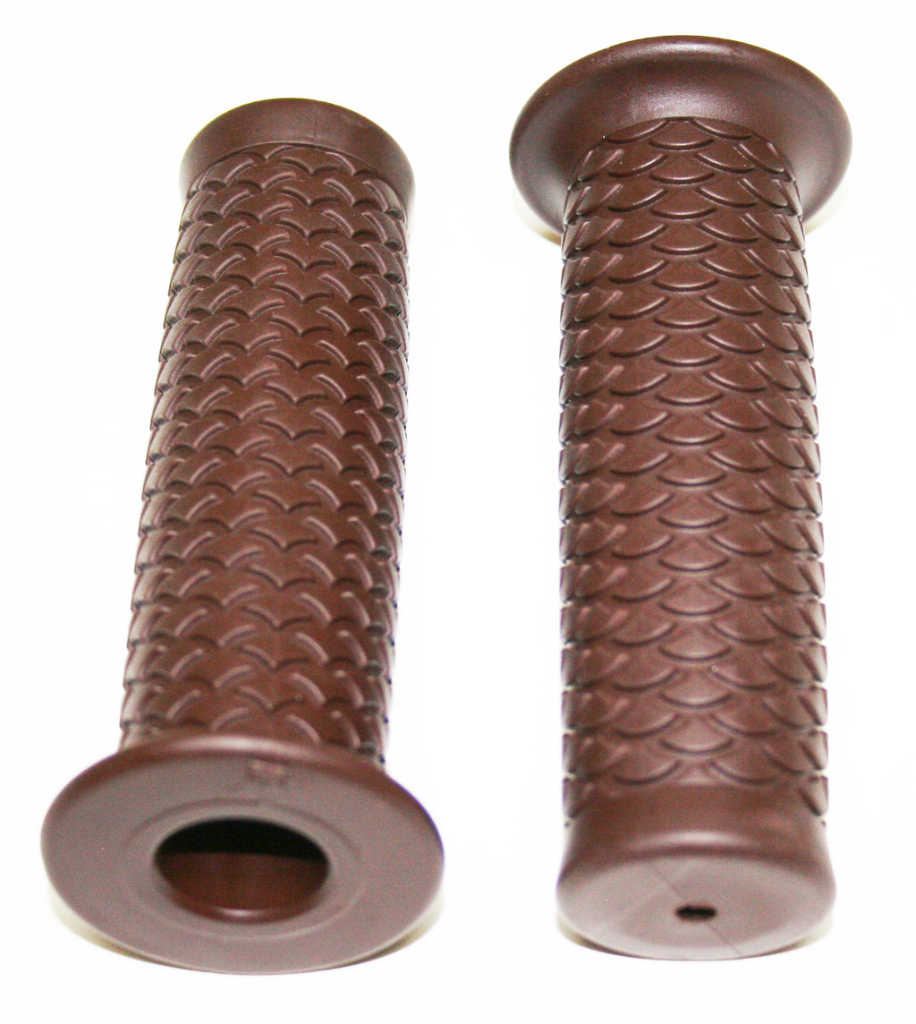 "Retro Dark Brown Style 7/8"" Grip Set - Goldwingparts.com"