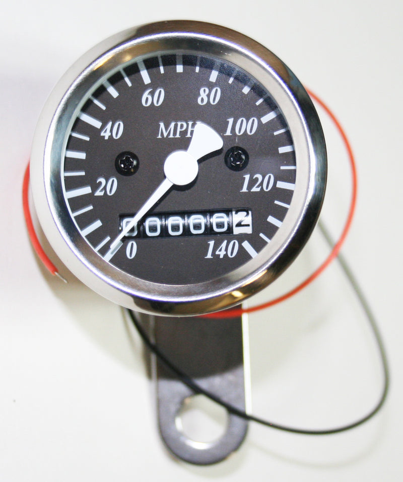 Micro Custom Speedometer-MPH ~ Black Face Plate - Goldwingparts.com