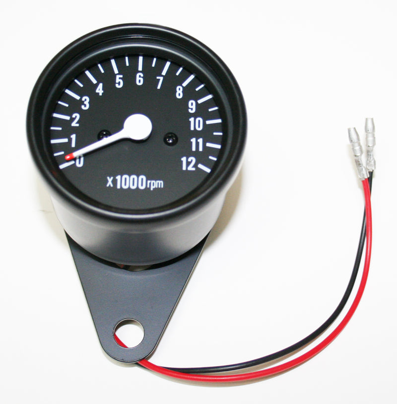 Deluxe Mini Custom Tachometer ~ All Black - Goldwingparts.com