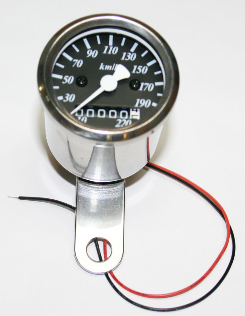 Micro Custom Speedometer-KPH ~ Black Face Plate - Goldwingparts.com