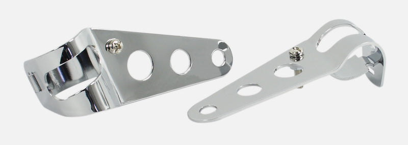 Headlight Bracket Set - Chrome 3-Hole Type - 32-38mm - Goldwingparts.com