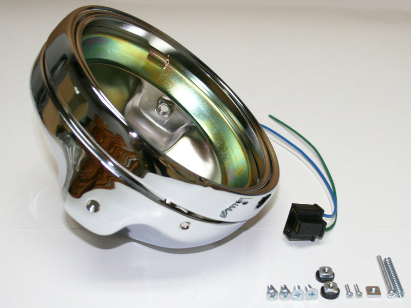 "Custom 7"" Headlight Shell & Rim - Goldwingparts.com"