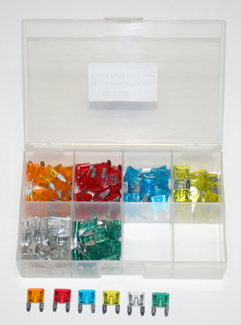 Deluxe 120pc. Mini Blade Fuse Set - Goldwingparts.com
