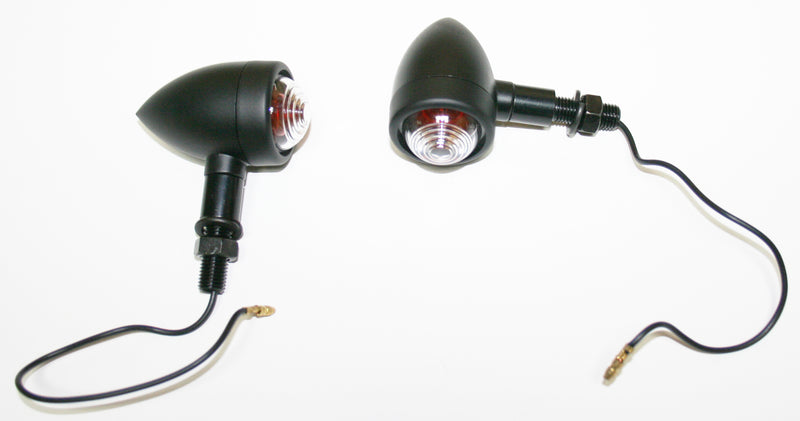 Custom Mini Black Bullet Turn Signal Lamp Set - Goldwingparts.com