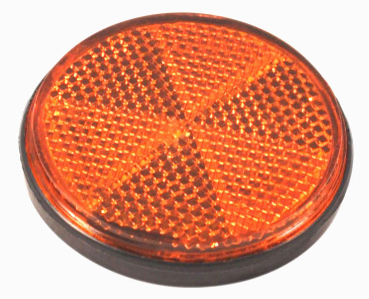 Round Reflector - Amber - 60mm Diameter - Goldwingparts.com