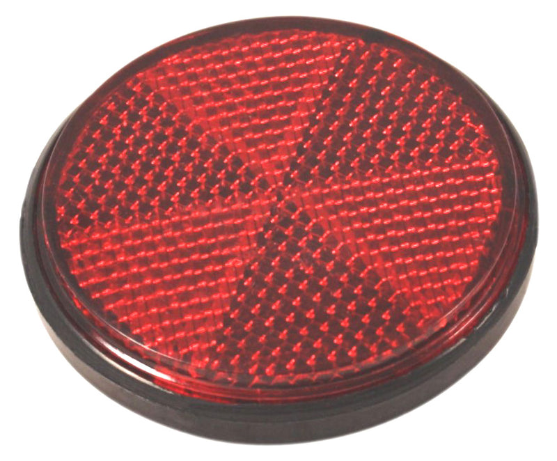 Round Reflector - Red - 60mm Diameter - Goldwingparts.com