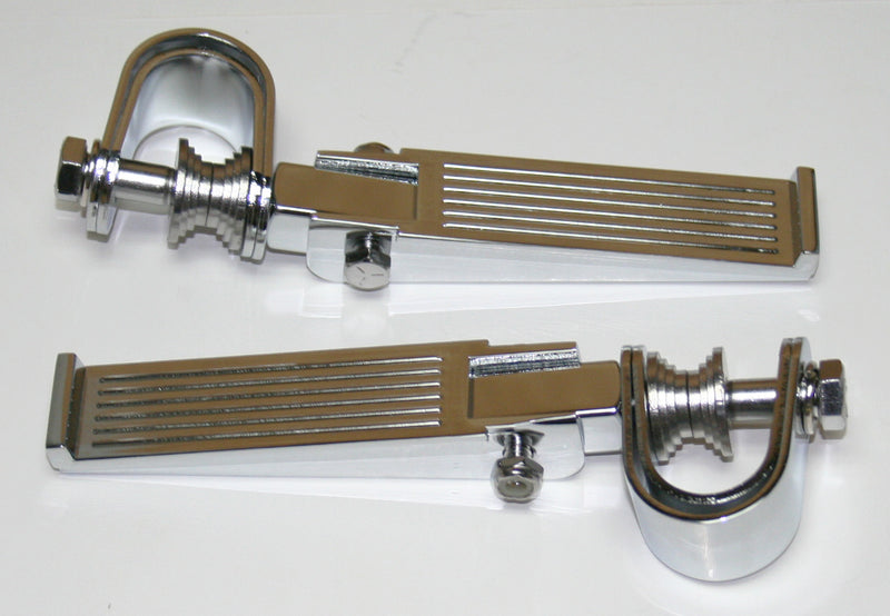 Custom Ribbed Chrome Crash Bar Highway Footpeg Set - Goldwingparts.com