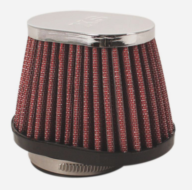 Chrome Oval Cap Air Filter 42mm - Goldwingparts.com