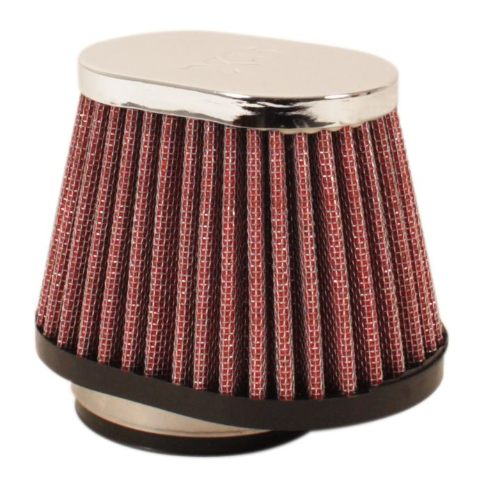 Chrome Oval Cap Air Filter 49mm - Goldwingparts.com