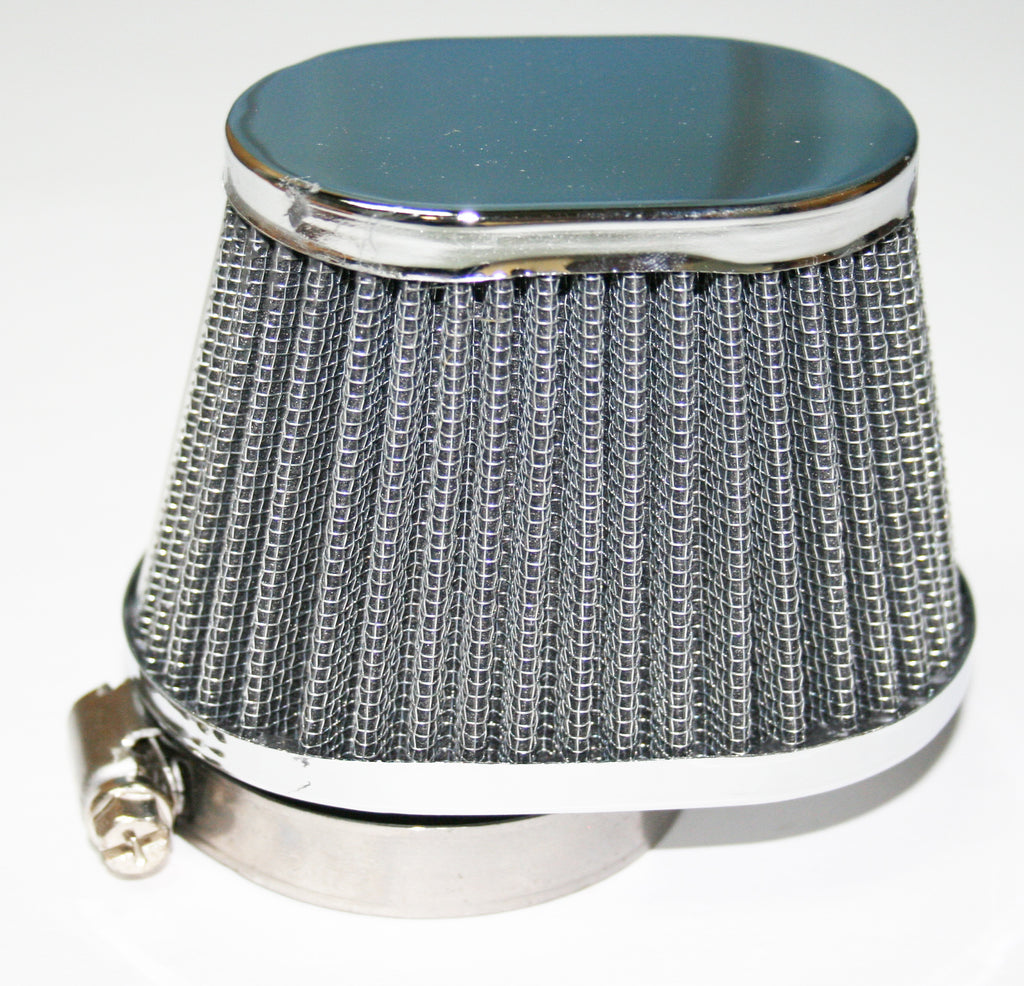 Chrome Oval Cap Air Filter 54mm - Goldwingparts.com