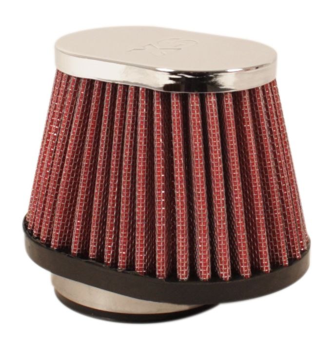 Chrome Oval Cap Air Filter 52mm - Goldwingparts.com
