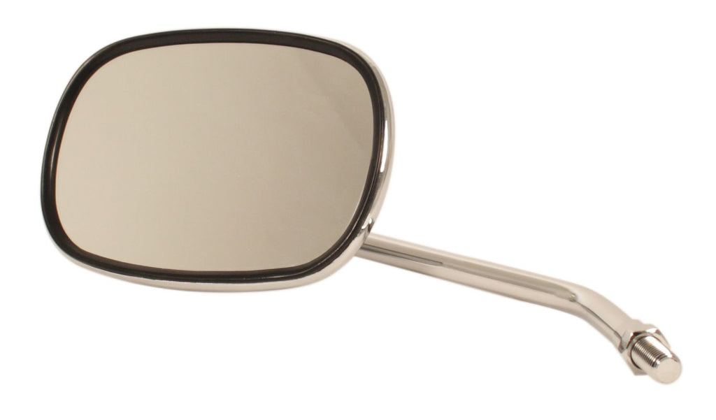 Rounded Rectangular Chrome Mirror - Goldwingparts.com