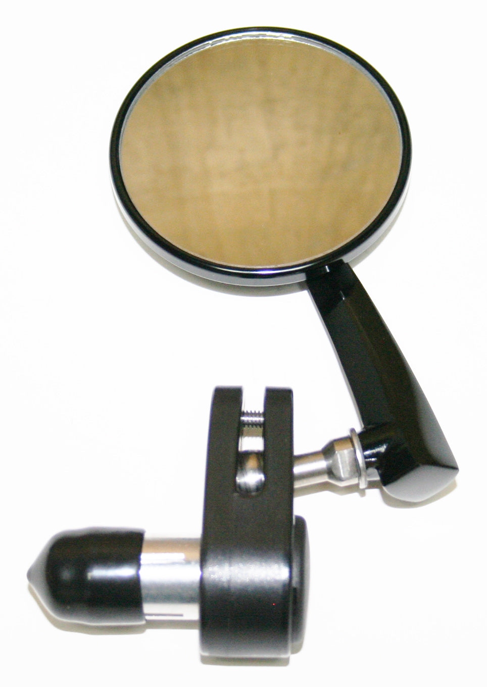 "Black 3"" Bar End Mirror ~ Right Side - Goldwingparts.com"