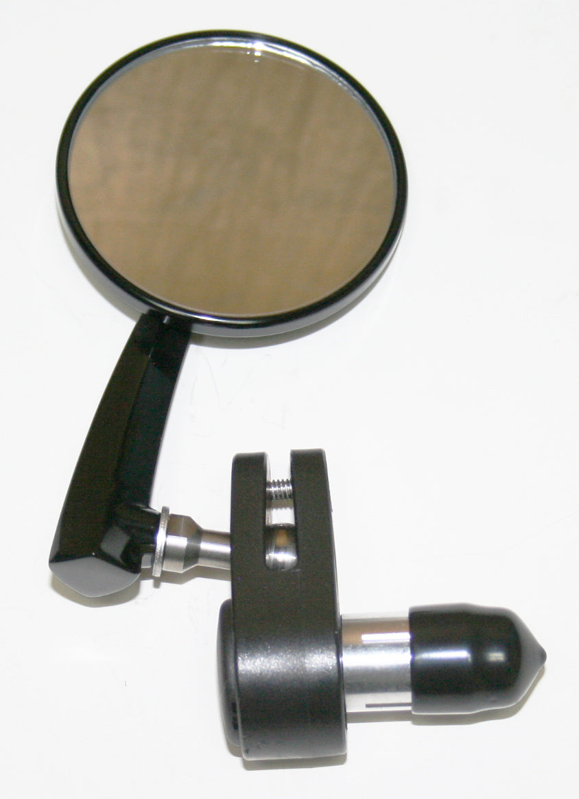 "Black 3"" Bar End Mirror ~ Left Side - Goldwingparts.com"