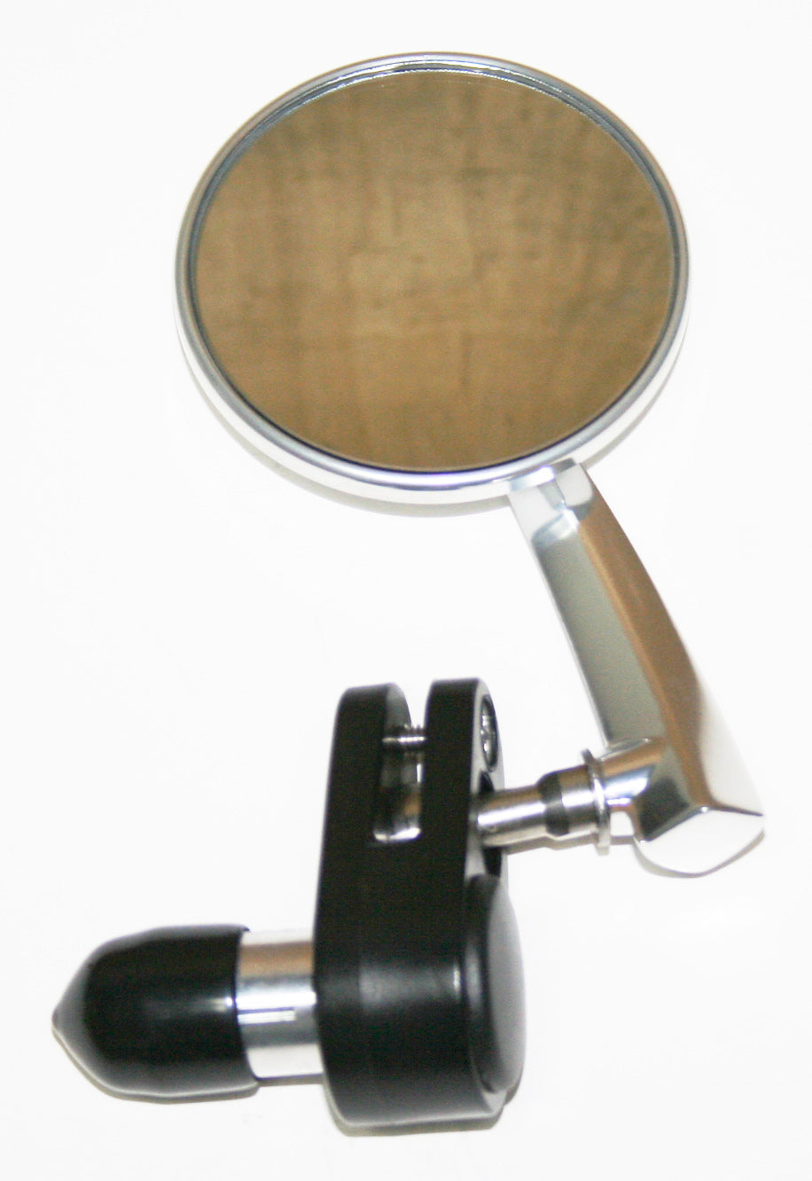 "Polished Aluminum 3"" Bar End Mirror ~ Right Side - Goldwingparts.com"