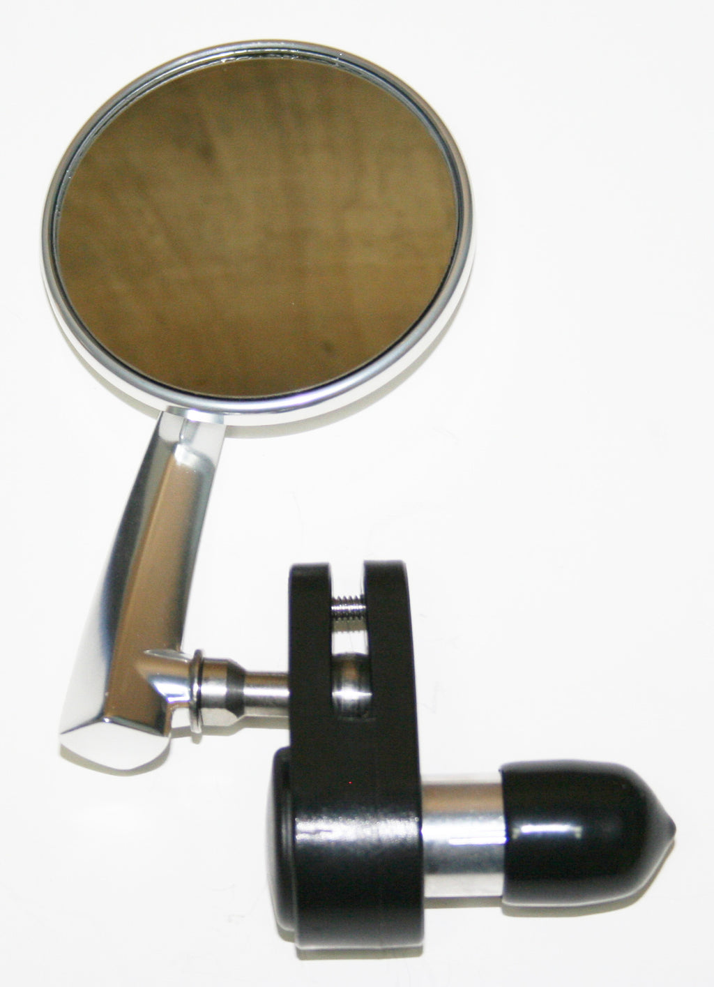 "Polished Aluminum 3"" Bar End Mirror ~ Left Side - Goldwingparts.com"
