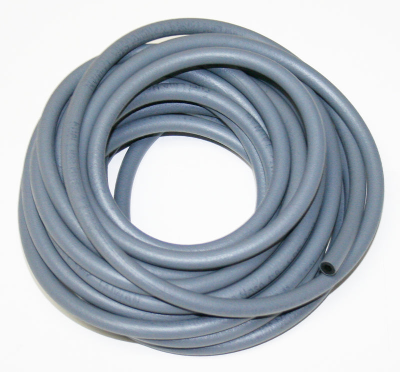 25 Foot Gray Rubber Fuel Line 4mm ID, 8mm OD - Goldwingparts.com