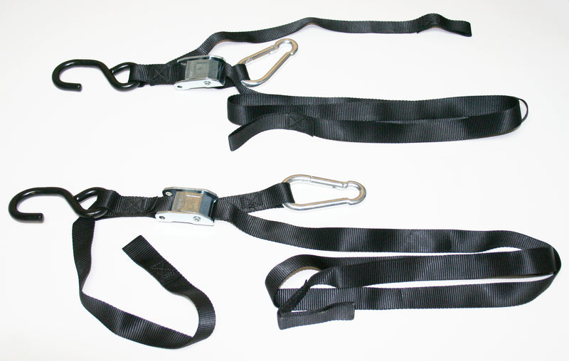 Black Tie Downs w/ Assist Carabiner - Goldwingparts.com