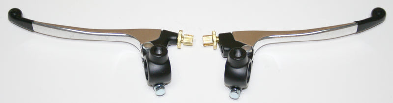 Custom Brake & Clutch Lever Assemblies ~ Black/Silver - Goldwingparts.com